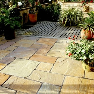 Bradstone Antique Natural Sandstone Paving Sunset Buff Patio Pack