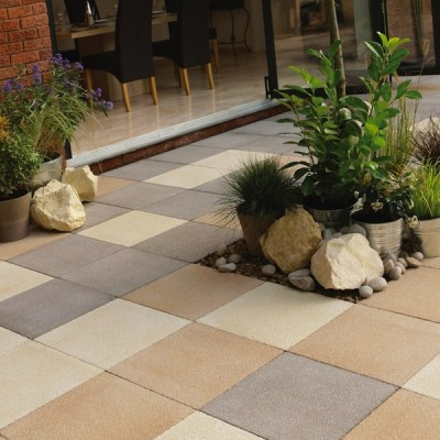 StoneFlair by Bradstone Panache Paving Chocolate Textured